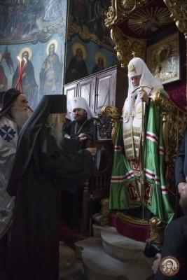 ПатриархКирилл в Пантелеимоновом монастыре на Афоне