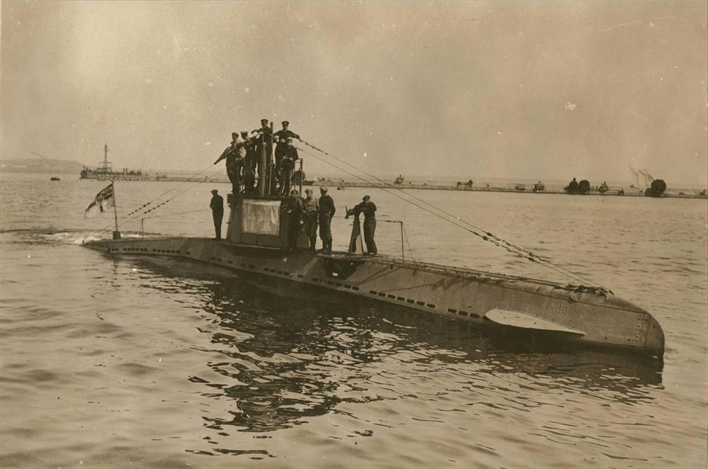 Германская подводная лодка времен Первой мировой войны