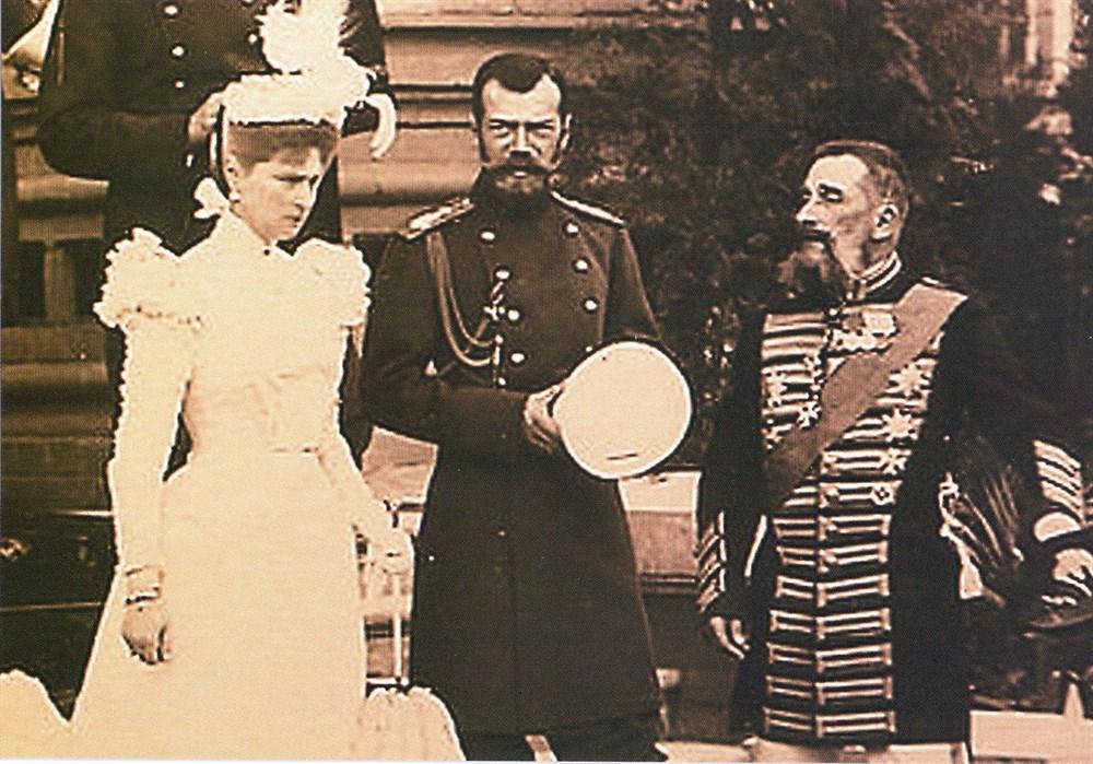 Император Николай II и харьковский губернатор Г.А.Тобизен