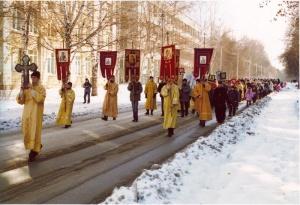 Крестный ход в честь воинской славы России