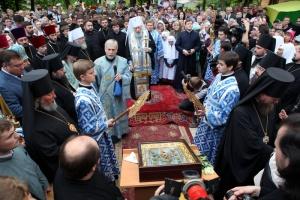 В столицу Украины прибыла главная святыня Русской Зарубежной Церкви – Курская Коренная икона Божией Матери «Знамение»