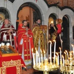 В Гефсимании почтили память святых преподобномучениц Великой княгини Елисаветы и инокини Варвары