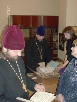 Сотрудники Издательского Совета Новосибирской Епархии посетили НГОНБ
