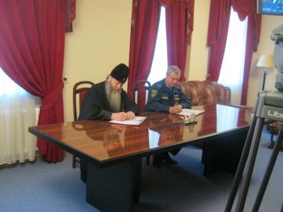 Главное управление МЧС России по Новосибирской области заключило соглашение о сотрудничестве с Новосибирской Епархией Русской Православной Церкви
