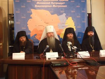 Пресс-конференция главы Новосибирской митрополии Митрополита Тихона