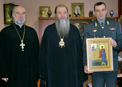 В дар Управлению ФСКН передана икона Святого мученика Вонифатия Тарсийского