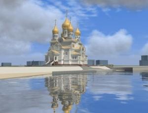 За возведением главного православного собора Поморья можно наблюдать онлайн