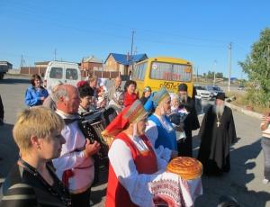 Встреча корабля во имя св. ап. Андрея Первозванного в Ордынске