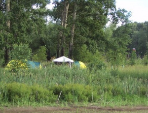 Палаточный летний лагерь в скиту монастыря