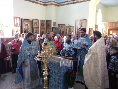 Молебен в память об избавлении России от нашествия Наполеона и престольный праздник в Искитиме