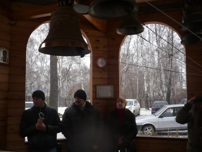 Освящение царского колокола в Приходе во имя святого страстотерпца Царя мученика Николая II