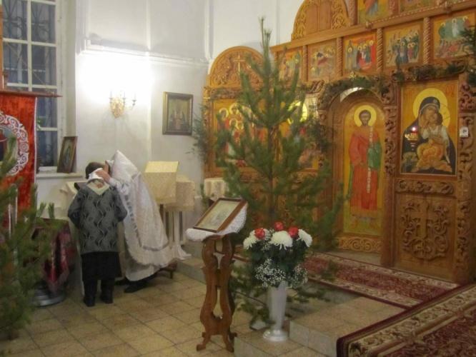 Рождественская служба в в Кафедральном соборе во имя Рождества Иоанна Предтечи города Куйбышева