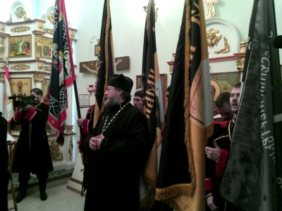 Митрополит Тихон освятил знамена Сибирского казачьего войска