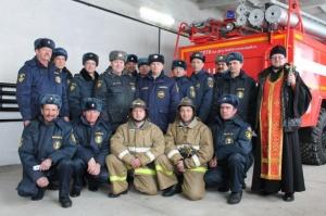 Освящение пожарных постов МЧС (Краснозерский район)
