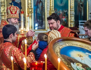 Пасхальные богослужения в Вознесенском соборе
