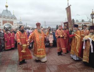 Приезд митрополита Тихона в Бердск
