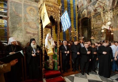 Патриарх Кирилл призвал афонских иноков молиться о России