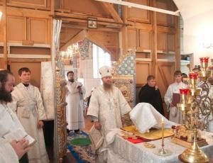 В праздник Преображения Господня состоялась диаконская хиротония в храме в честь Покрова Пресвятой Богородицы села Завьялово