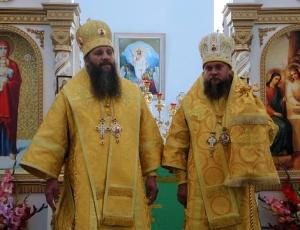 Визит епископа Филиппа и епископа Артемия в храм Святой Троицы в Ордынск (видео)
