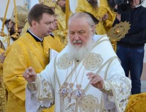 Трансляция богослужения Святейшего Патриарха Кирилла в Троице-Владимирском соборе г. Новосибирска