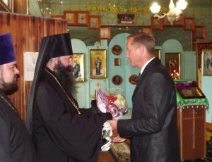 30 августа епископ Феодосий возглавил чин закладки камня в основание нового храма в честь Святой Троицы