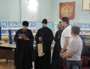 Боксёры встретились с епископом