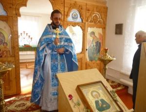 Литургия в храме села Зубково Краснозерского района