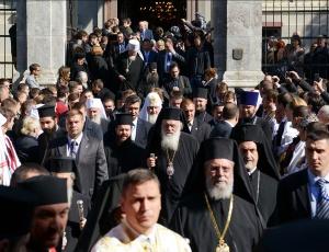 Предстоятели и представители Поместных Православных Церквей вознесли славословие Господу в кафедральном соборе Белграда (+ Фоторепортаж)
