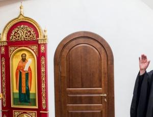 Митрополит Тихон встретился со спортсменом Фёдором Емельяненко