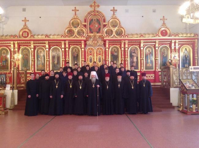 Митрополит Тихон поздравил семинаристов с днем памяти св. мч.Татианы