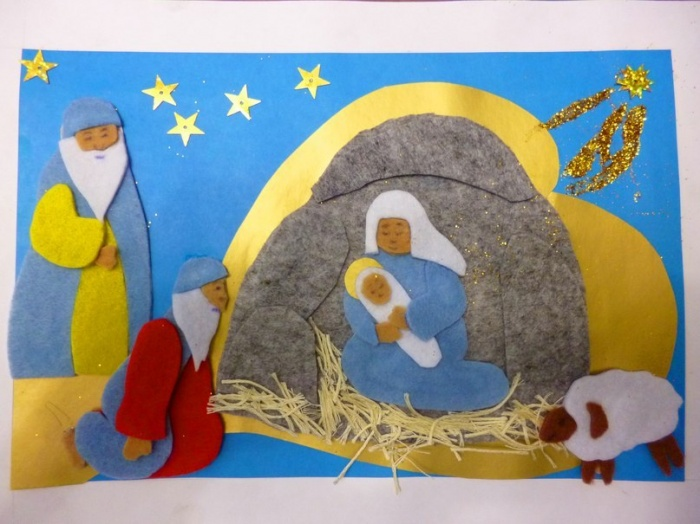 Дети и добровольцы сделали лучшую открытку к Рождеству Христову