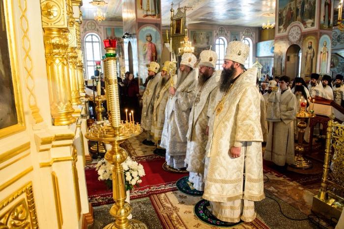 Престольный праздник в Вознесенском кафедральном соборе г. Новосибирска