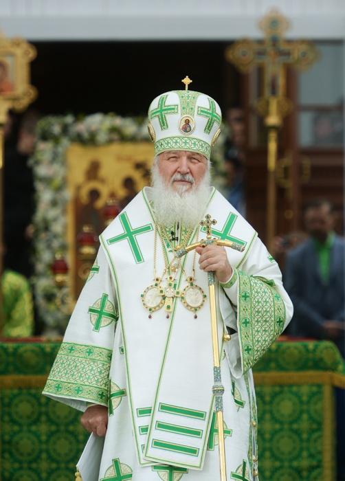 """Патриарх Кирилл: """"Преподобный Сергий, который явил святость жизни в простоте и смирении, в мудрости и мужестве, стал олицетворением Святой Руси"""""""