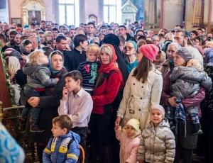 Торжественная встреча иконы преподобного Сергия Радонежского в Вознесенском кафедральном соборе