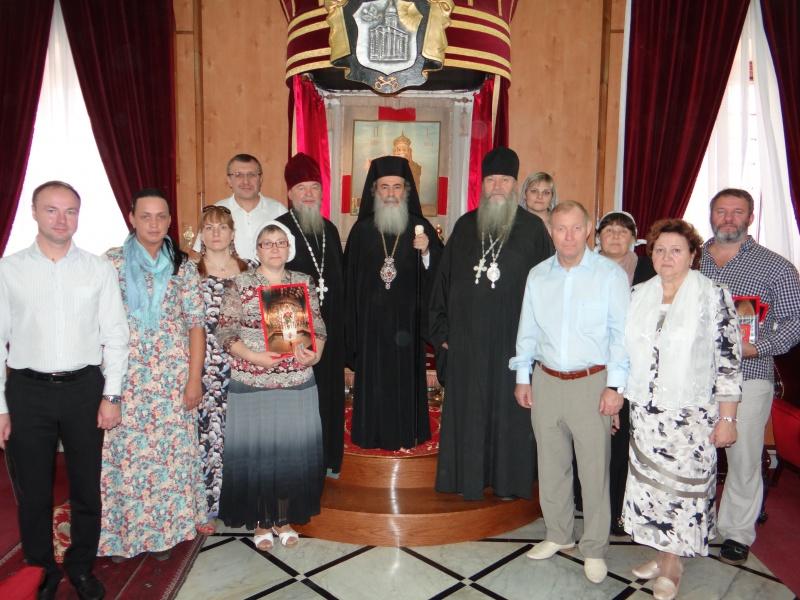 Новосибирские паломники на Святой Земле