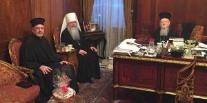 Впервые в истории Предстоятель Православной Церкви в Америке сослужил с Константинопольским Патриархом