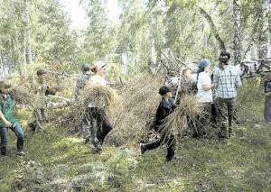 Летний лагерь Братства православных следопытов «Рыцари природы» в Новосибирске